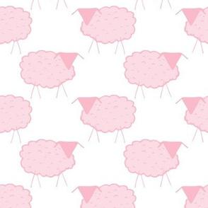 Sheep in Pastel Pinks