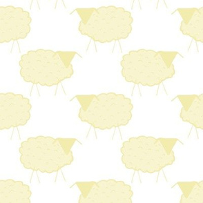 Sheep in Pastel Yellows