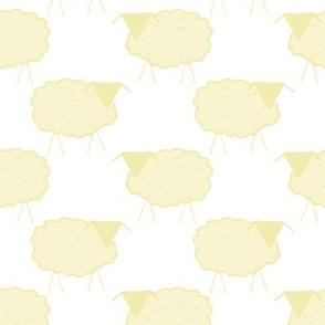 Sheep in Pastel Yellows