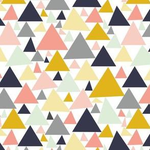 Geometric Pastel Triangles