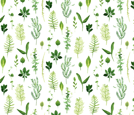 Leaves Zig Zag - Larger fabric by crumpetsandcrabsticks on Spoonflower - custom fabric