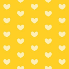 yellow heart on mustard