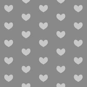 grey heart on charcoal
