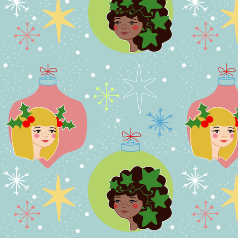 Holly And Ivy fabric by thequirkyquince on Spoonflower - custom fabric