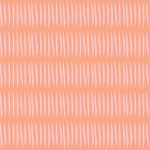 pink tiger stripes on peach