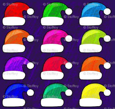 santa's  colorful hat collection
