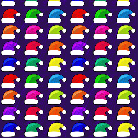 santa's  colorful hat collection fabric by stofftoy on Spoonflower - custom fabric