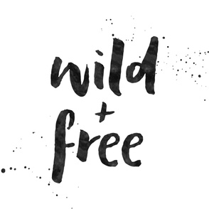Wild & Free - 1 yard panel