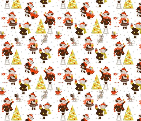 Merry Christmas ! fabric by theboutiquestudio on Spoonflower - custom fabric