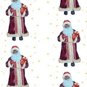 African American Santa Vintage
