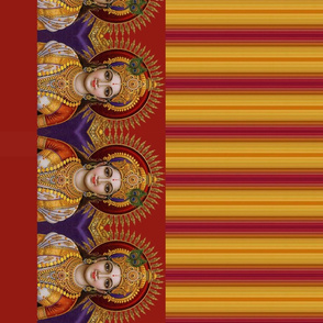 Lakshmi With Spice Stripes Border  Print