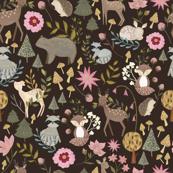 Woodland Animals Brown/ Forest animals/ Nursery woodland