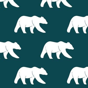 bears on dark teal || the yellowstone collection