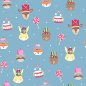 Nutcracker animals/ Woodland faces/ Bunny Bear Racoon/ Fox