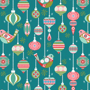Birds and Baubles - Teal