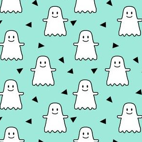 halloween ghost ghosties kids girls sweet halloween emoji cute halloween mint