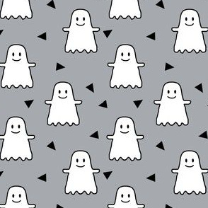 halloween ghost ghosties kids girls sweet halloween emoji cute halloween grey