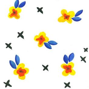 Bright Little Flowers - Larger Version