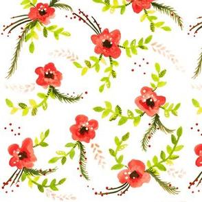 Christmas Flowers - Smaller Version
