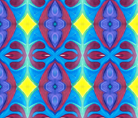 BlueYellow Redness fabric by cynsdaughter on Spoonflower - custom fabric