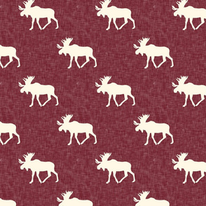 moose || cream on maroon