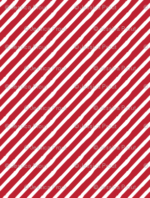candy stripe || white on red