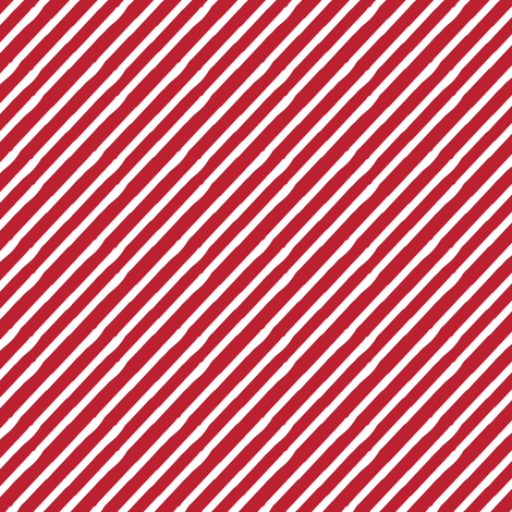 candy stripe || white on red fabric by littlearrowdesign on Spoonflower - custom fabric