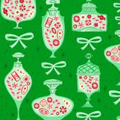 Vintage Christmas Candy Jars