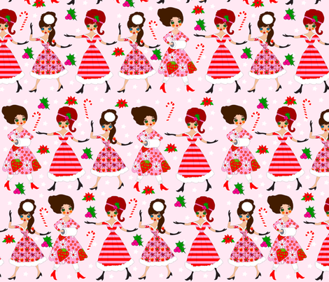 Deschanel Sisters' Christmas fabric by orangefancy on Spoonflower - custom fabric
