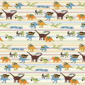 Dinosaurs stripe horizontal