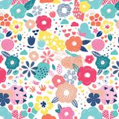 Modern Pop Art Floral