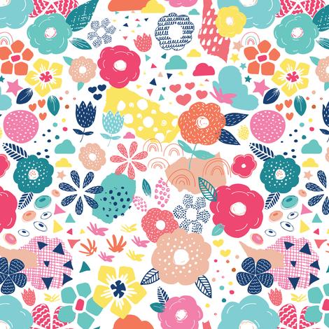 Modern Pop Art Floral fabric by michellegracedesign on Spoonflower - custom fabric