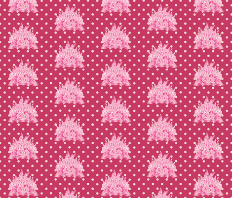 Gerbera_and_Lily_Bouquet_spots_pink fabric by colour_angel_by_kv on Spoonflower - custom fabric