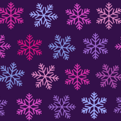 Christmas purple snowflake