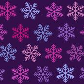 Christmas purple snowflake