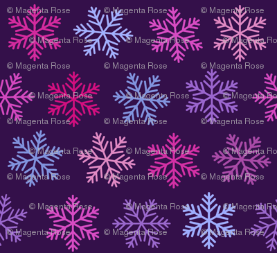 Purple Snowflake Winter Ultraviolet Lilac Fabric