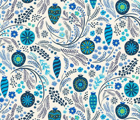 Vintage Christmas fabric by jill_o_connor on Spoonflower - custom fabric