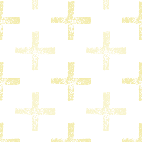 Powdered Yellow Pluses fabric by anniedeb on Spoonflower - custom fabric