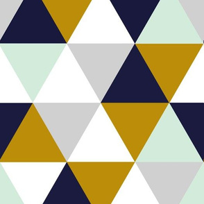 Mint Mustard Navy Grey Triangles_rev