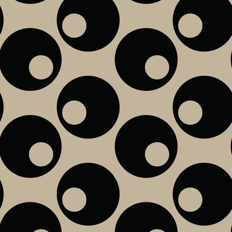 16-16E Black Olives Taupe Japan Japanese Asian Vegetable Polka dot_Miss Chiff Designs fabric by misschiffdesigns on Spoonflower - custom fabric
