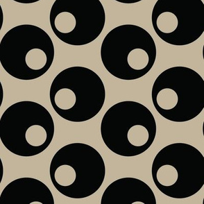 Black Olives Taupe Japan Japanese Asian Vegetable Polka dot_Miss Chiff Designs