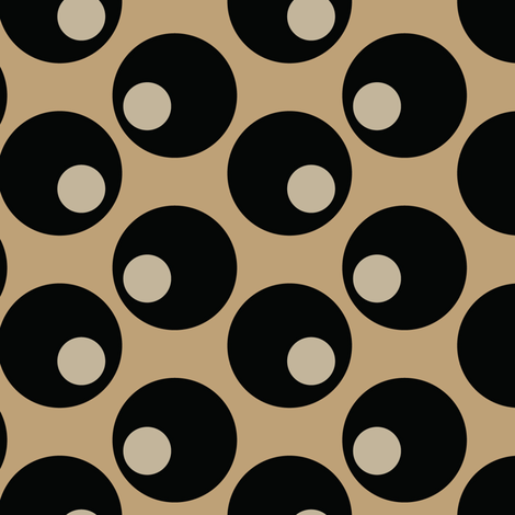 16-16D Black Olives Graphic Tan Khaki Brown Japan Japanese Asian Vegetable Food Polka Dot_Miss Chiff Designs fabric by misschiffdesigns on Spoonflower - custom fabric