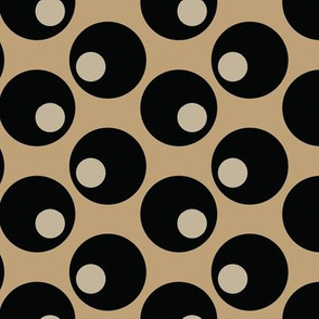 16-16D Black Olives Graphic Tan Khaki Brown Japan Japanese Asian Vegetable Food Polka Dot_Miss Chiff Designs