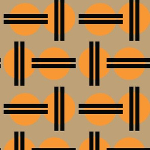 Asian Japanese Japan Graphic Sun || Orange Black Khaki  Tan _Miss Chiff Designs