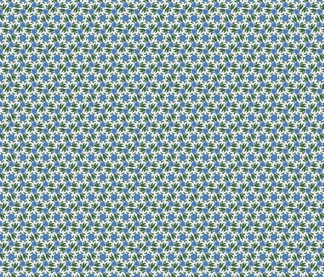 Blue Floral with Tropical Leaves fabric by jaylinn on Spoonflower - custom fabric