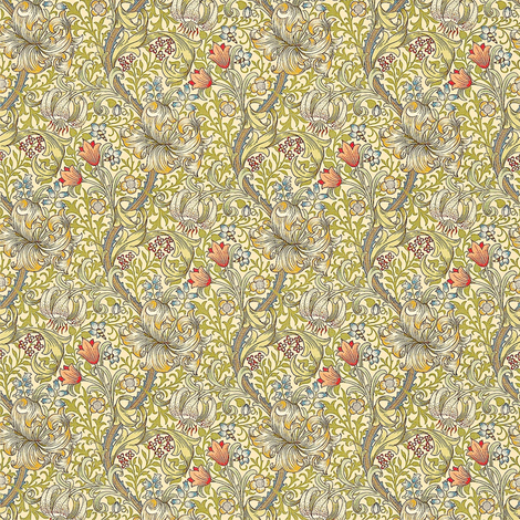 Morris Lily Minimus fabric by amyvail on Spoonflower - custom fabric