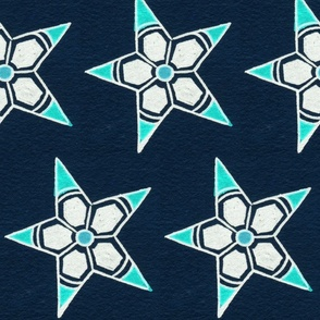 Big Blue Throwing Stars