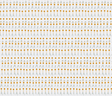 ARROW POLKADOT mustard and grey fabric by miriam_leitner on Spoonflower - custom fabric