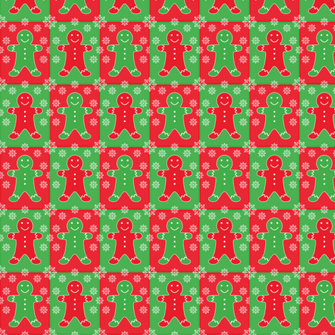 Jolly Gingerbread (sm) fabric by jjtrends on Spoonflower - custom fabric