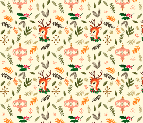 vintage christmas fabric by ginamayes on spoonflower custom fabric - Vintage Christmas Wallpaper